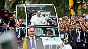 Pope Francis in Central Park