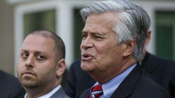 Adam Skelos, left, and Sen. Dean Skelos, right,