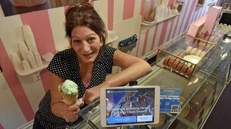 Diane Mondello, owner of Rocking Horse Ices and