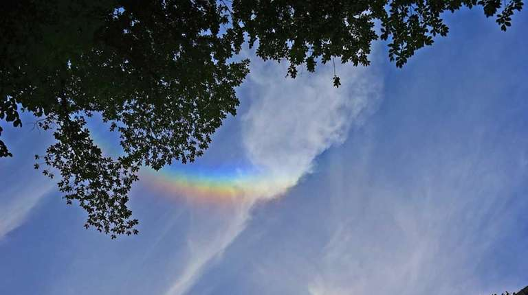 Shortly before Pope Francis arrived, rainbow appeared over