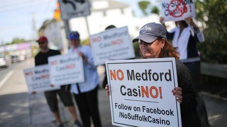 Loretta Nastasi of Medford holds a