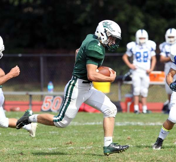 Locust Valley's John Pedranghelu takes off for one