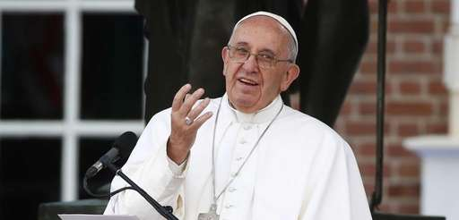 Pope Francis delivers remarks on the theme