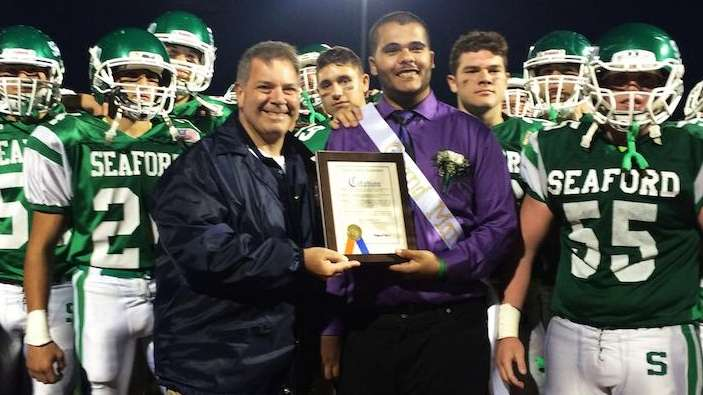 At Seaford High School's homecoming game, Nassau County