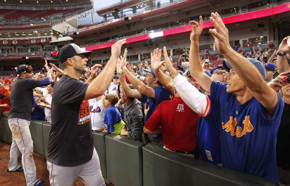 David Wright #5 of theNew York Mets celebrates