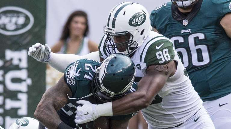 New York Jets outside linebacker Quinton Coples (98)