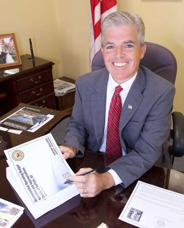 Suffolk County Executive Steve Bellone on Sept 18,