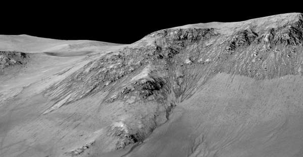 Recurring slope lineae flowing downhill on Mars are