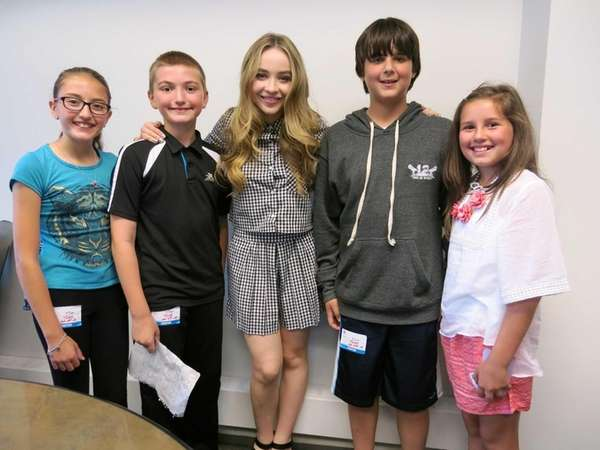 Singer and actress Sabrina Carpenter with Kidsday reporters,