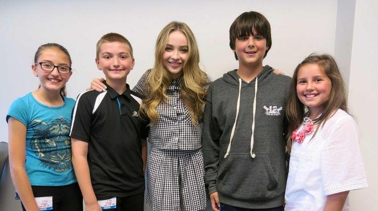 Singer and actress Sabrina Carpenter with Kidsday reporters,
