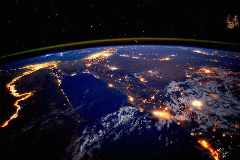 NASA astronaut Scott Kelly photographed the Nile River
