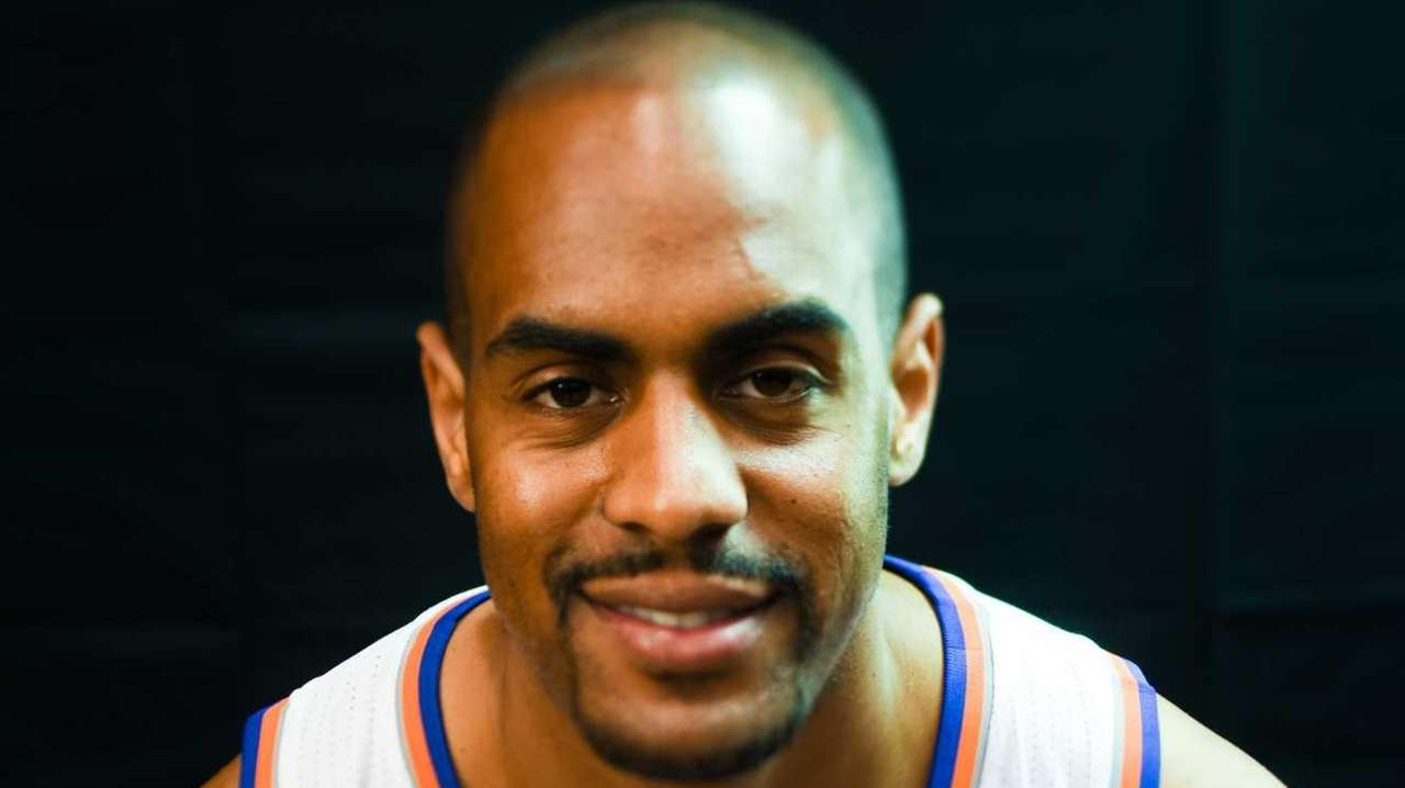 New York Knicks guard Arron Afflalo (4) poses