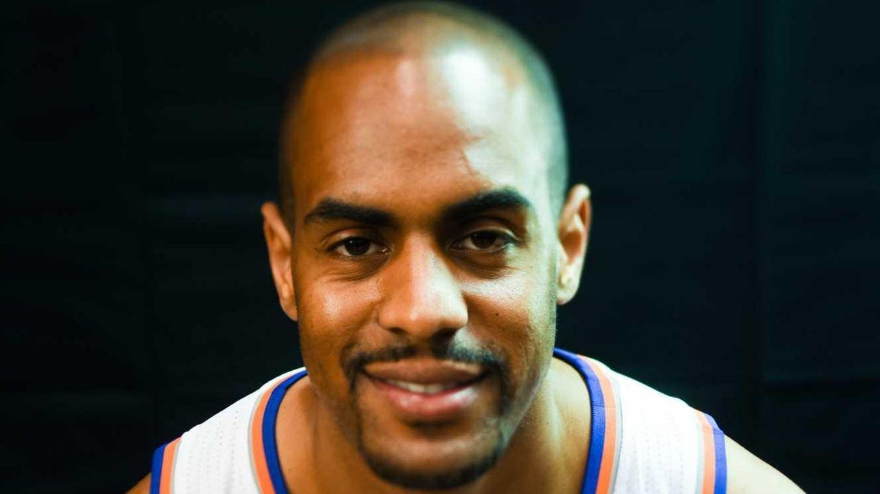 New York Knicks guard Arron Afflalo (4) poses