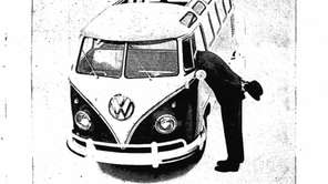 Ad for a Volkswagen bus that originally ran
