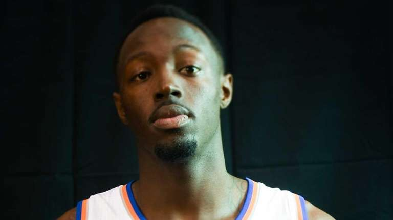 The New York Knicks' Jerian Grant poses during