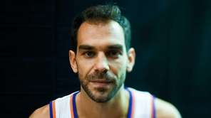 New York Knicks guard Jose Calderon poses during