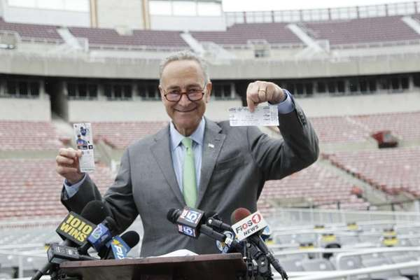 Sen. Chuck Schumer announces the introduction of a