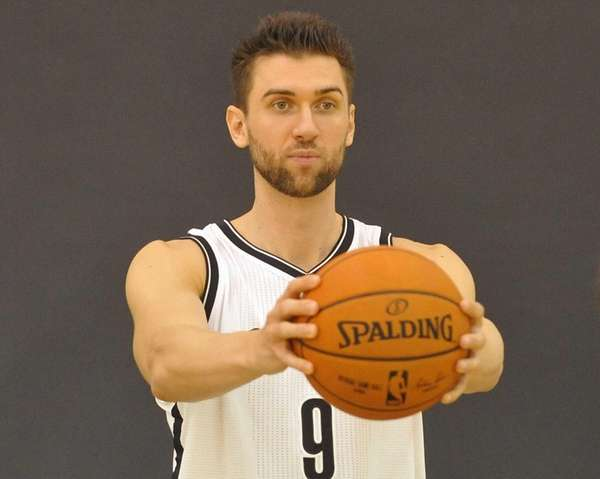 The Brooklyn Nets' Andrea Bargnani poses for portraits