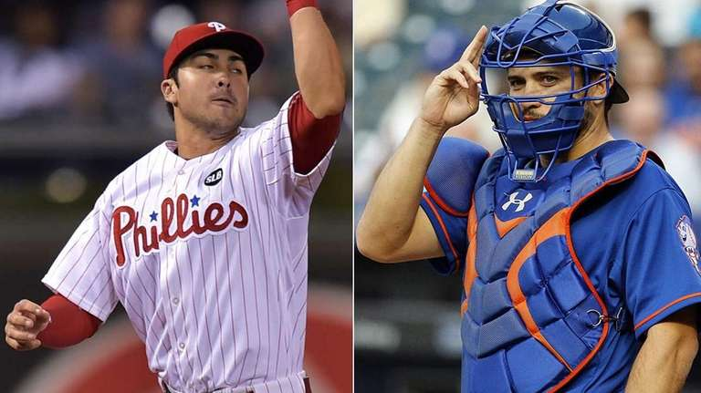 Brothers Chase d'Arnaud, left, and Travis d'Arnaud will