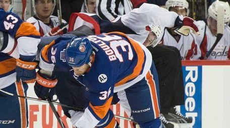 New York Islanders left wing Mike Halmo (43)