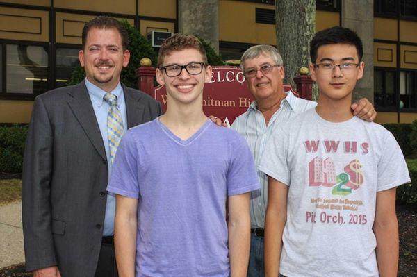 From left, Walt Whitman High School principal John