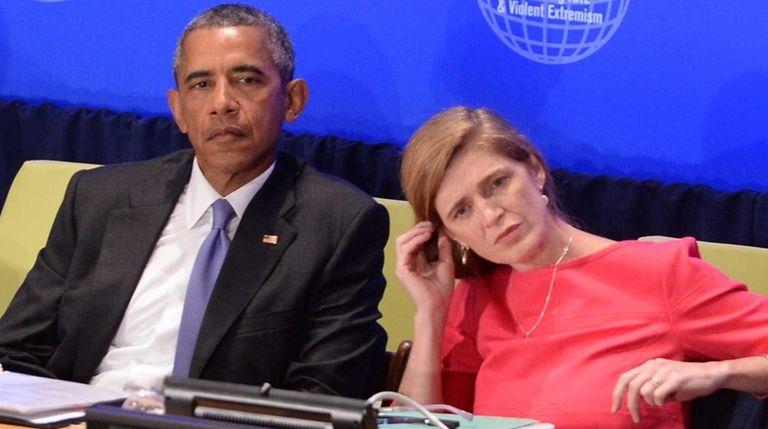 President Barack Obama and Samantha Power, United States