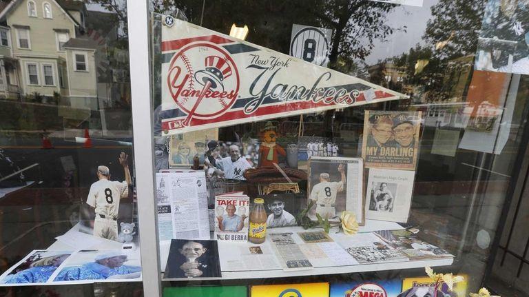 Memorabilia of New York Yankees Hall of Fame