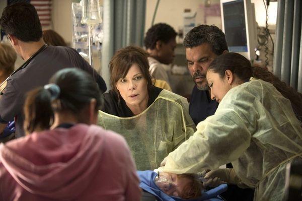 Marcia Gay Harden, center, stars in CBS' new
