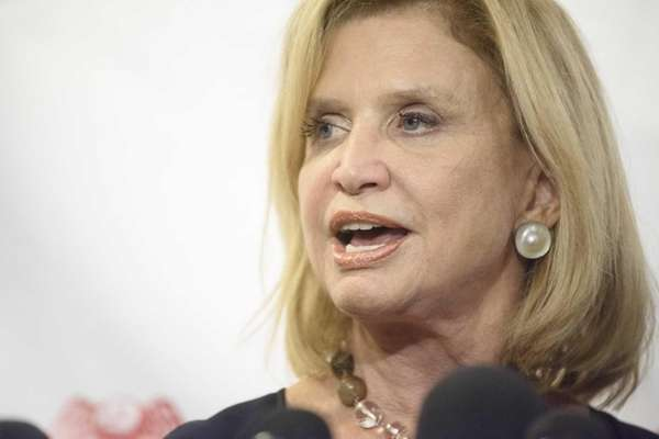 Rep. Carolyn B. Maloney speaks during a news