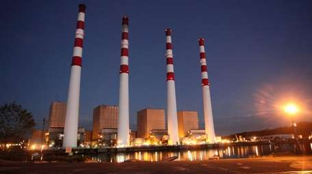 The National Grid power plant in Northport is