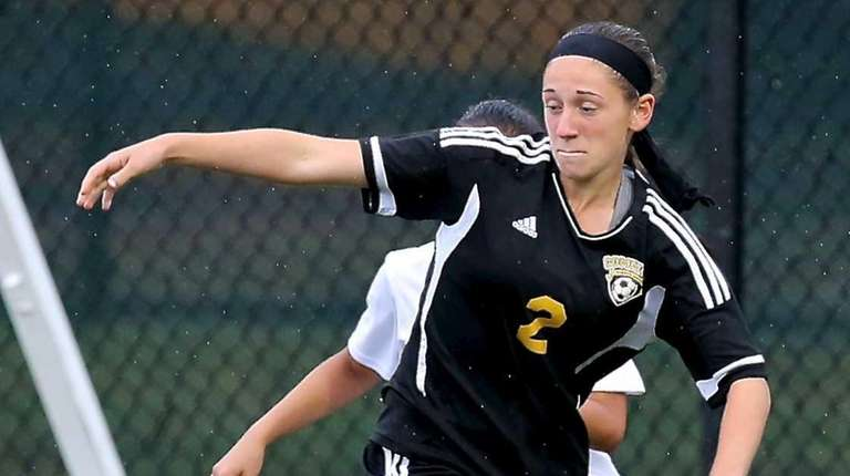 Commack forward Allison Seidman looks to set up