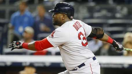 David Ortiz of the Boston Red Sox follows