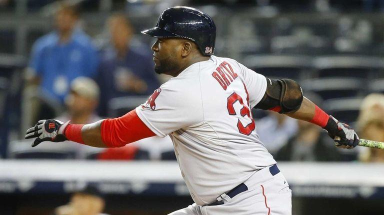 David Ortiz of the Boston Red Sox follows