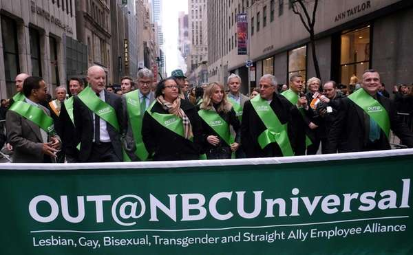 Members of OUT@NBCUniversal, march during the St. Patrick's