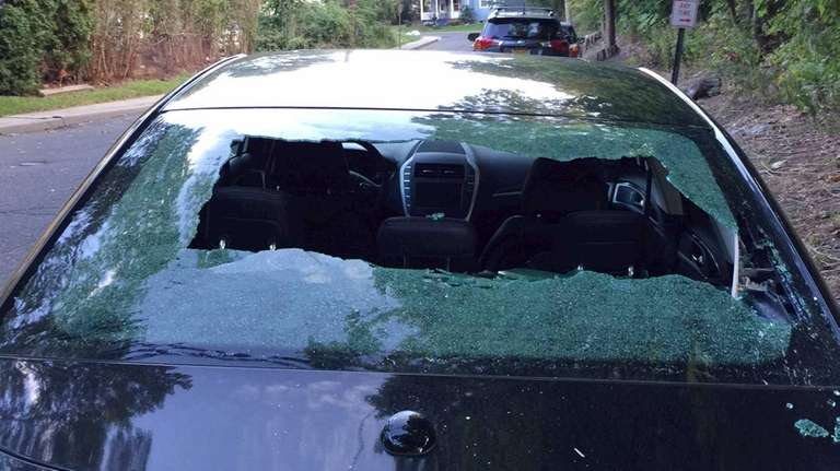 Chris Longhito, of Selden, was driving home from