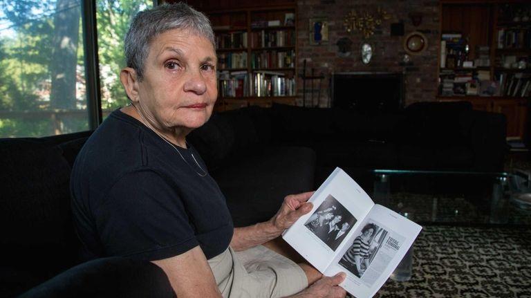 Lois Schaffer with her book