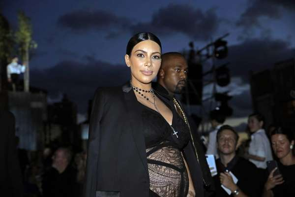 Kim Kardashian attends the Givenchy fashion show at