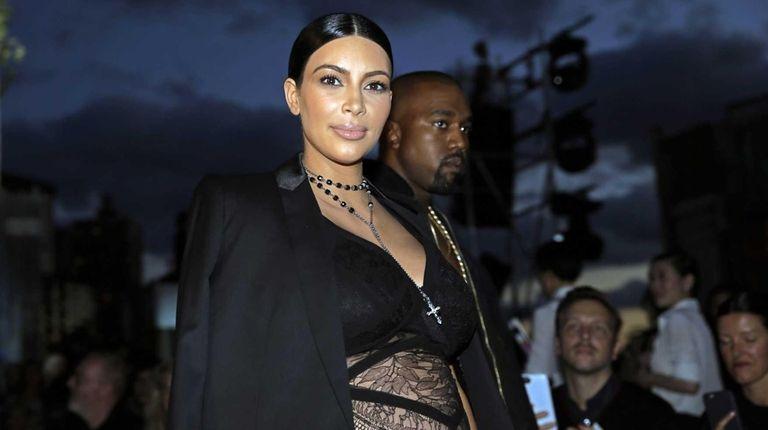 Kim Kardashian attends the Givenchy fashion show at