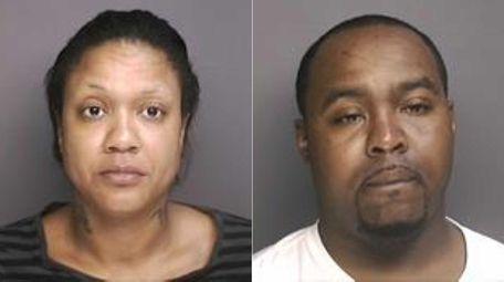 Tanisha Whitley, 31, left, and Darryn Hardin, 28,
