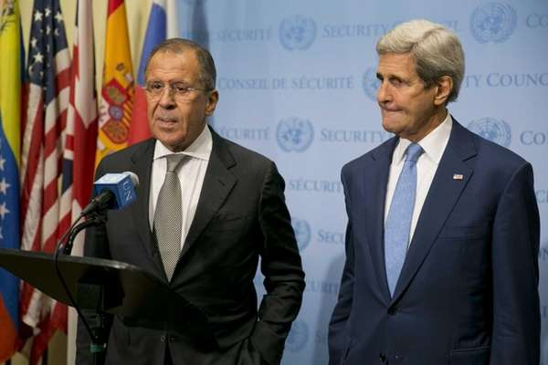 US Secretary of State John Kerry, right, and