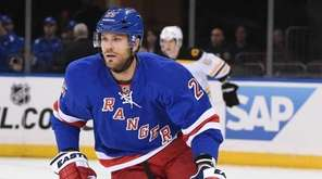New York Rangers left wing Viktor Stalberg skates