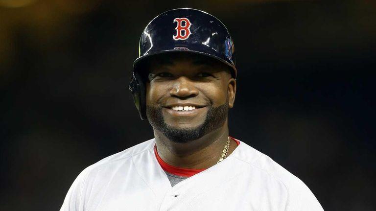 David Ortiz of the Boston Red Sox smiles