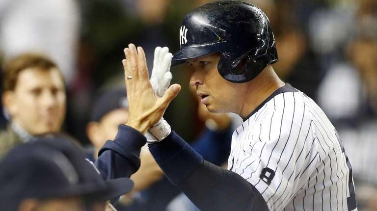 Alex Rodriguez of the New York Yankees celebrates