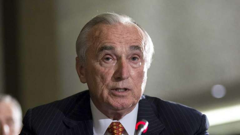 NYPD Commissioner Bill Bratton, pictured Sept. 8, 2015,