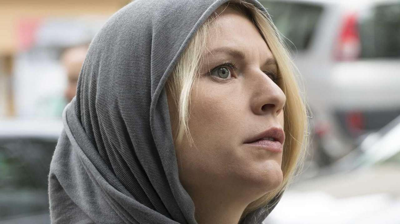 Claire Danes as Carrie Mathison in a