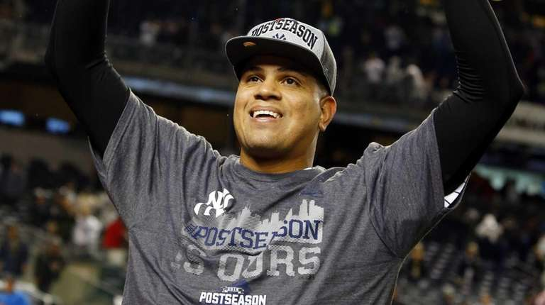 Dellin Betances of the New York Yankees celebrates