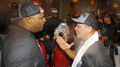 CC Sabathia and Alex Rodriguez of the New
