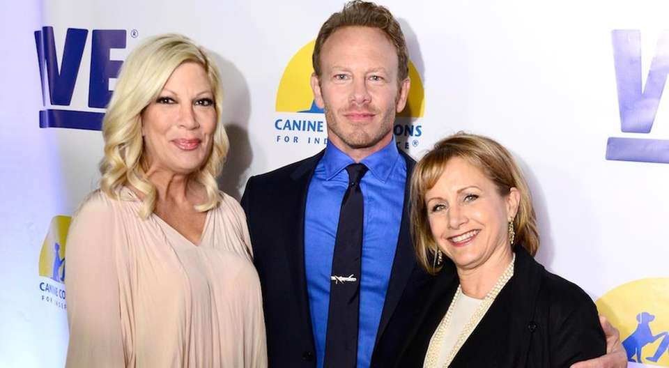Carteris (right, with Spelling and Ziering in May