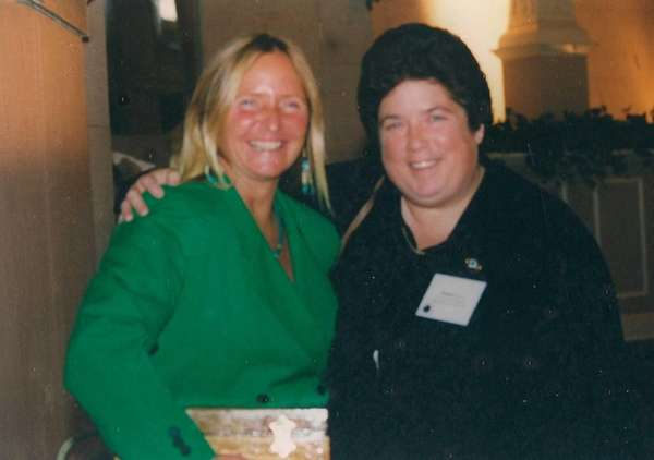Evon Allen with Sue Guliani at a state-wide