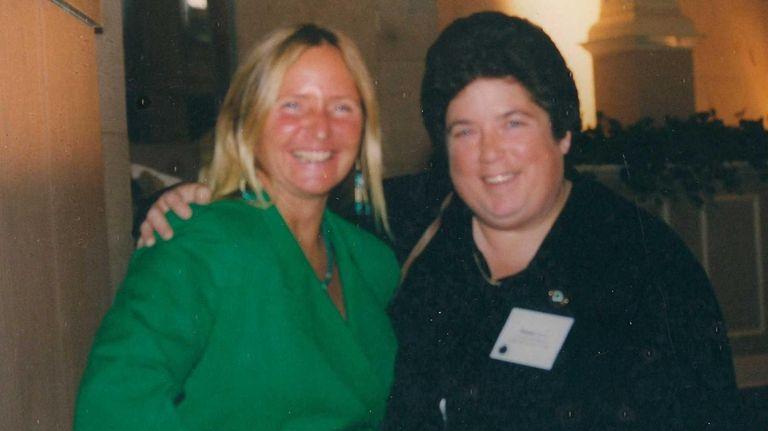 Evon Allen with Sue Guliani at a state-wide